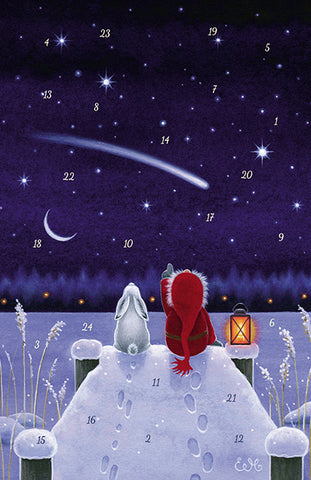 Lakeside Star Advent Calendar GREETING CARD / Eva Melhuish