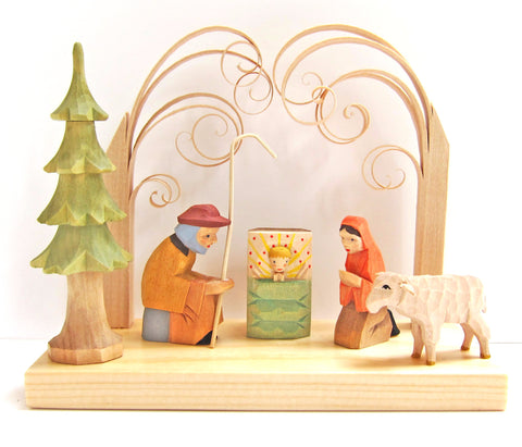Hand-carved Wooden Helbig Workshop Creche - Nativity Set
