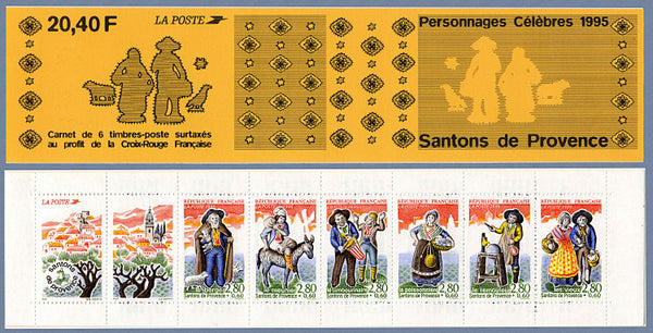 Book of French Santons de Provence Postage Stamps - 1995