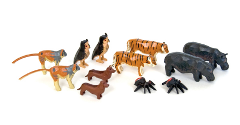 Noah's Ark Animals - 6 Pairs Assortment #1 / Size Small