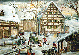 Christmas Farm Scene - Advent Calendar