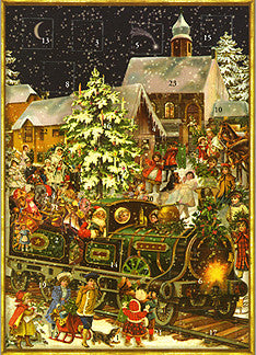 Santa's Train - Advent Calendar GREETING CARD