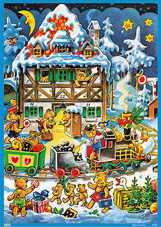 Teddy Bear Village and Train - Advent Calendar