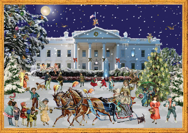 White House - Advent Calendar GREETING CARD