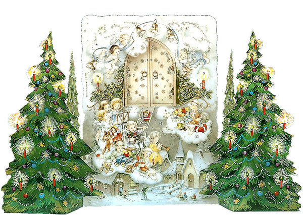 A Child's Christmas / Angels with Christmas Trees - Advent Calendar / 3 Dimensional