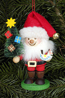 Santa with a Christmas Tree and Rocking Horse - 4""