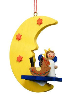 Angel on the Moon with Toys - 2-3/4""