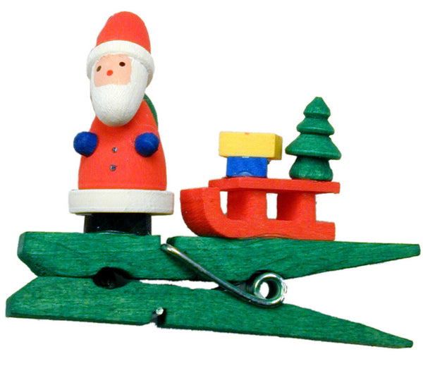 Santa with his Sled - 2""
