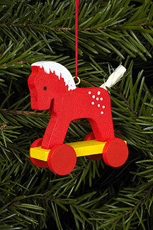Red Hobby Horse on Wheels - 2""