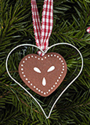 Heart Gingerbread Cookie Ornament - 2-1/4""