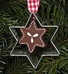 Star Gingerbread Cookie Cutter Ornament - 2-1/4""