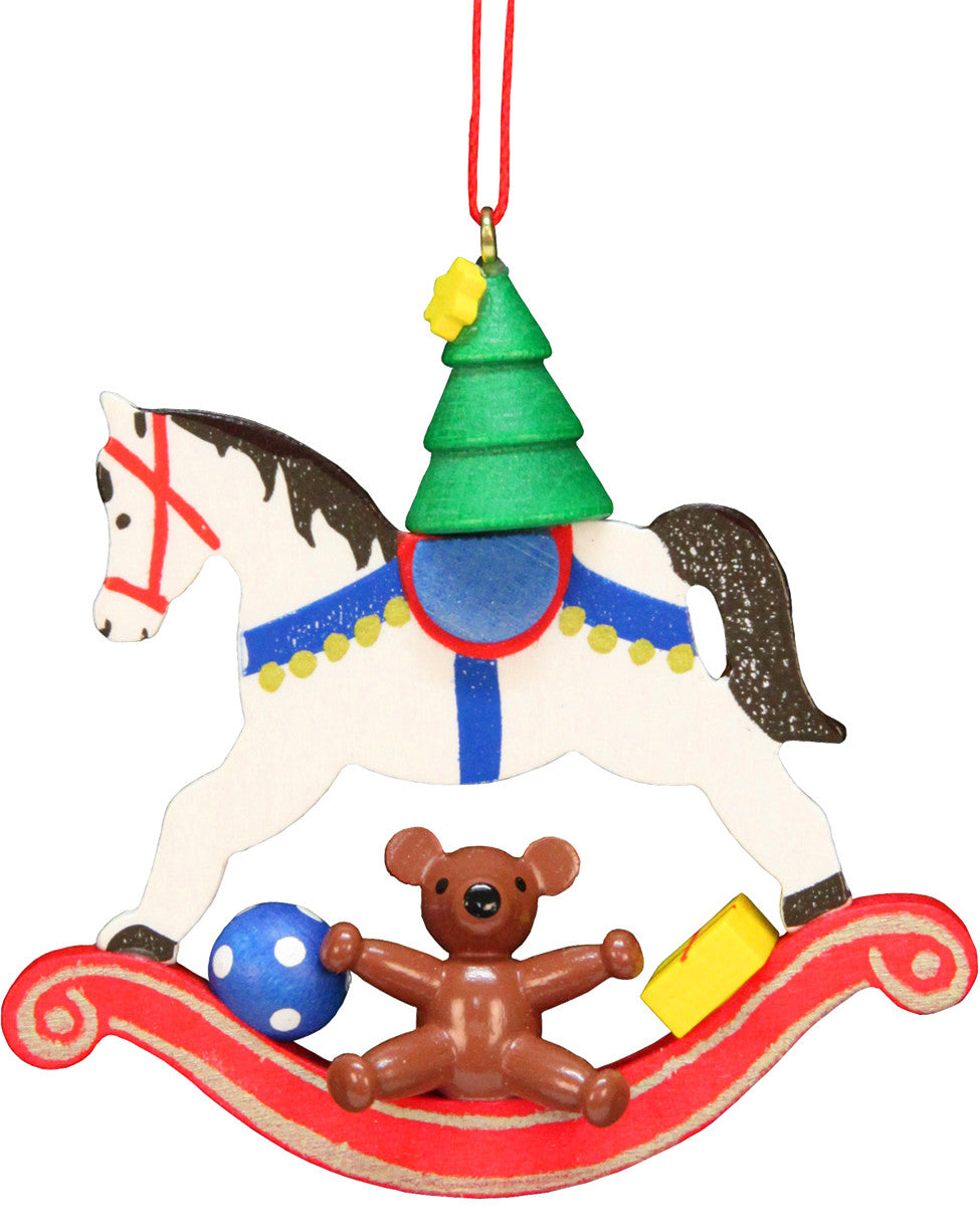 Toys and a Christmas Tree on a Rocking Horse - 2-3/4""