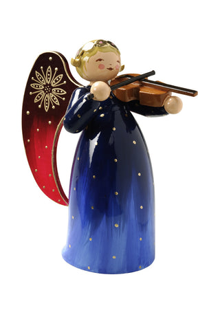 Richly Painted Angel with Violin - Wendt and Kühn Christmas Angel Collection