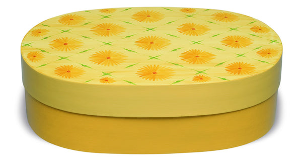 Yellow Blossoms Oval Splinter Box