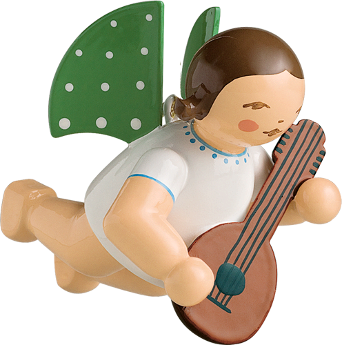 Flying Grünhainichen Angel with Mandolin - 2""