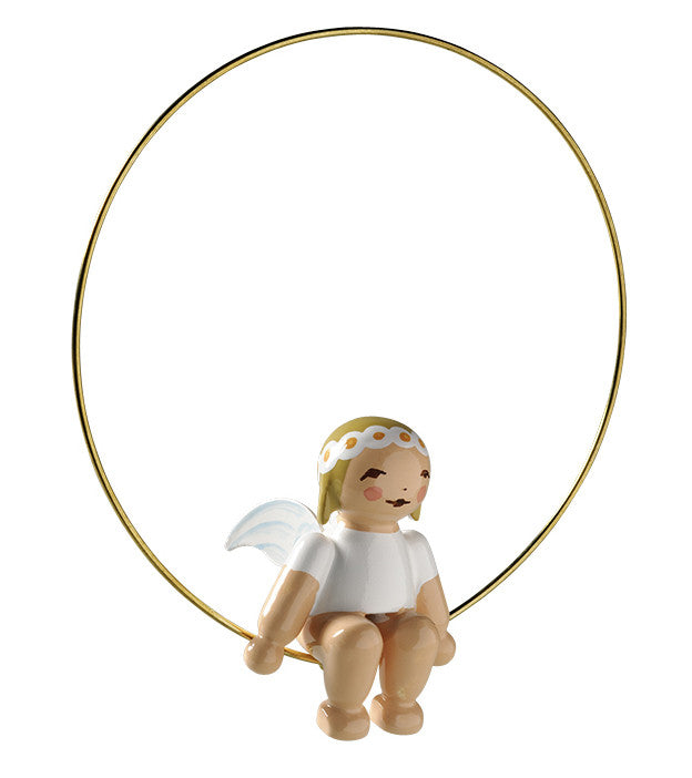 Angel in a Ring Ornament