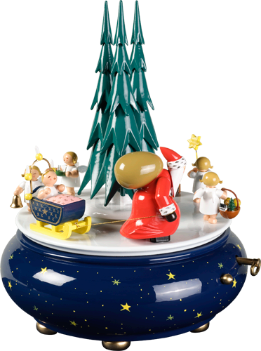 SPECIAL ORDER - Santa and Angel's Christmas Procession / Wendt and Kühn 36 Note Music Box