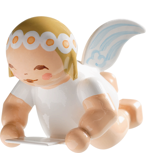 Small Flying Marguerite Angel with Sheet Music - 1""