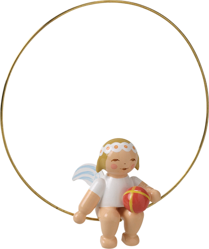Angel with Ball in a Ring Ornament