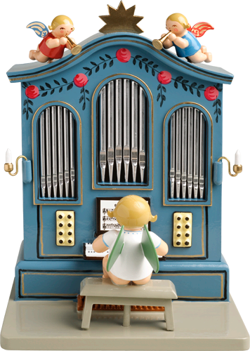 Angel Orchestra Musician at Organ / Wendt and Kühn 36 Note Music Box