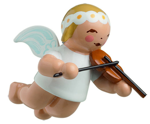Small Flying / Suspended Marguerite Angel with Violin Ornament - 1""