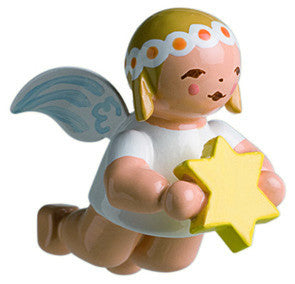 Small Flying Marguerite Angel with Star Ornament - 1""