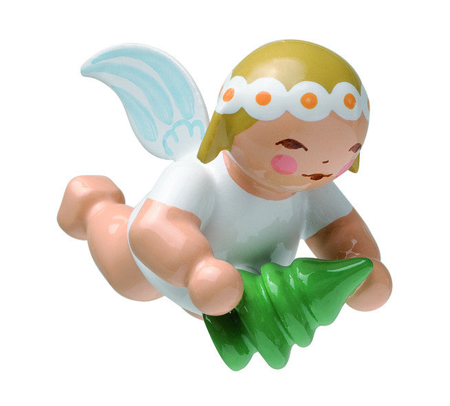Small Flying Angel Marguerite with Tree Ornament - 1""