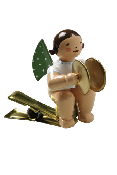 Clip-on Angel with Cymbals