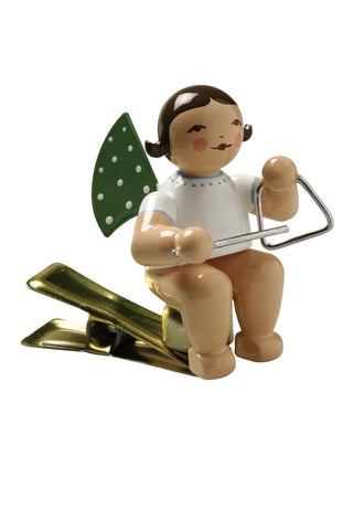Clip-on Angel with a Triangle