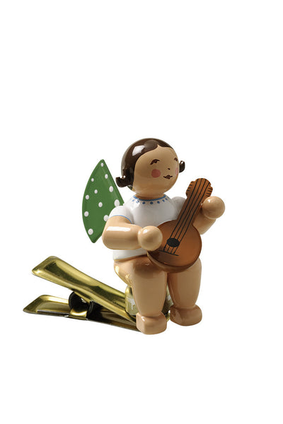 Clip-on Angel with a Mandolin