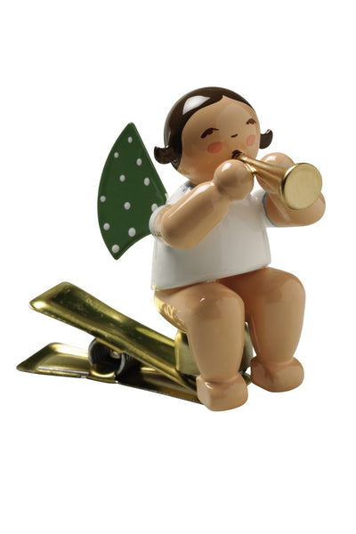 Clip-on Angel with a Small Trumpet