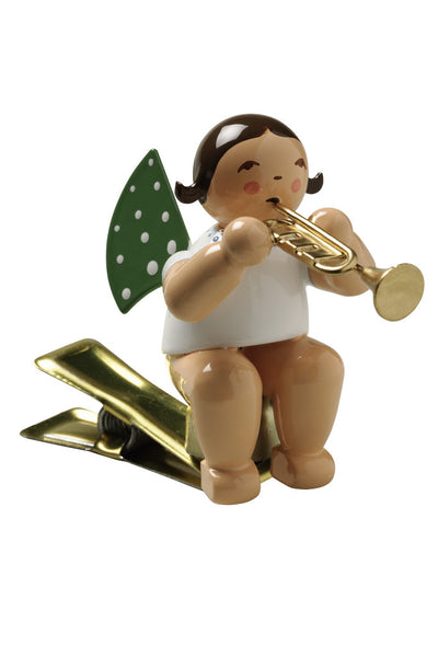 Clip-on Angel with a Trumpet