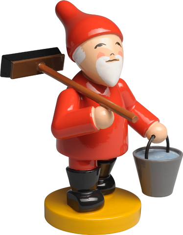 Gnome / Fairy / Elf with Broom and Bucket - New 2017