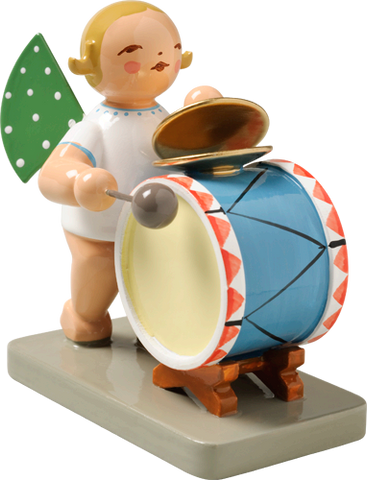 Angel Orchestra Musician with Percussion Instruments - Cymbals and Drum