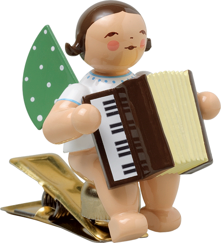 Clip-on Angel with Accordion