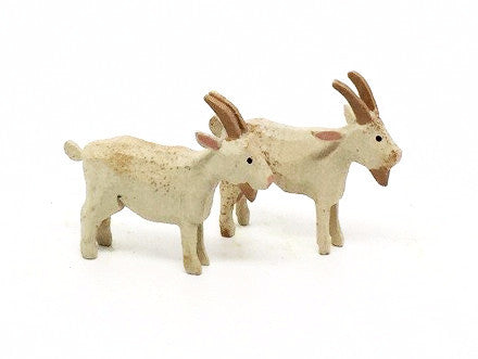"Goats, Pair of hand-carved - 1-5/8"" / Size Small"