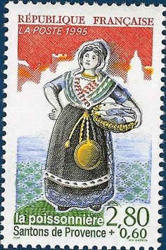 Santons de Provence Postage Stamps - Set of 6