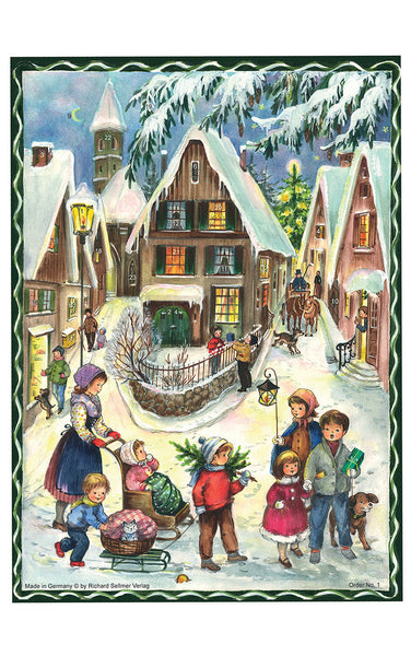 Village Scene - Advent Calendar