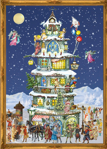 Victorian Tower - Advent Calendar GREETING CARD