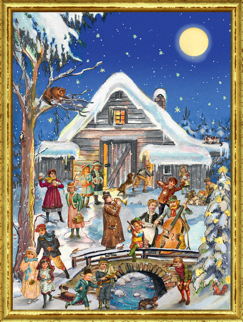 Victorian Christmas Celebration - Advent Calendar GREETING CARD