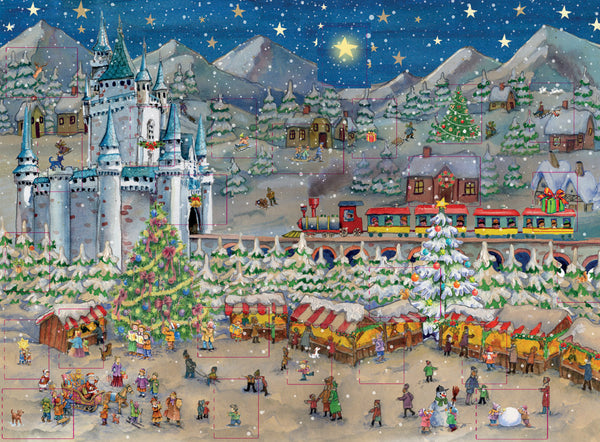 Christmas Market at Neuschwanstein Advent Calendar