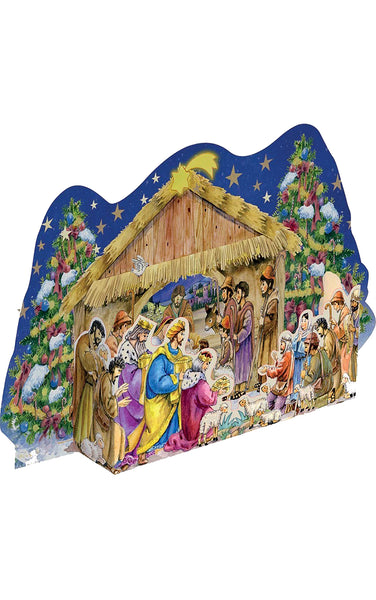 Nativity Scene - Advent Calendar / 3 Dimensional