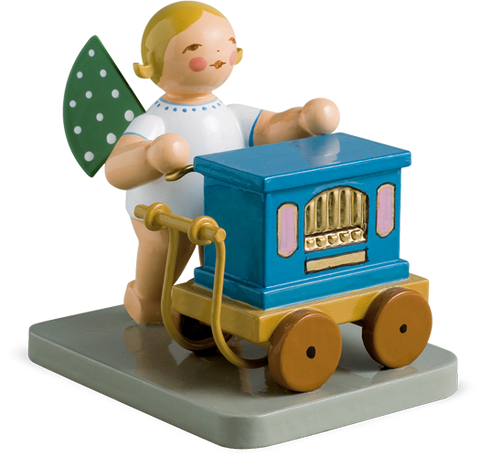 Angel Orchestra Musician with Barrel Organ