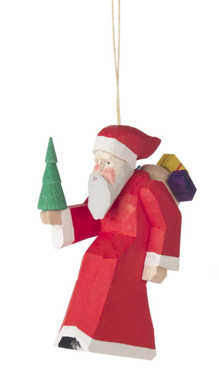 Saint Nicholas / Santa Hand-carved ornament