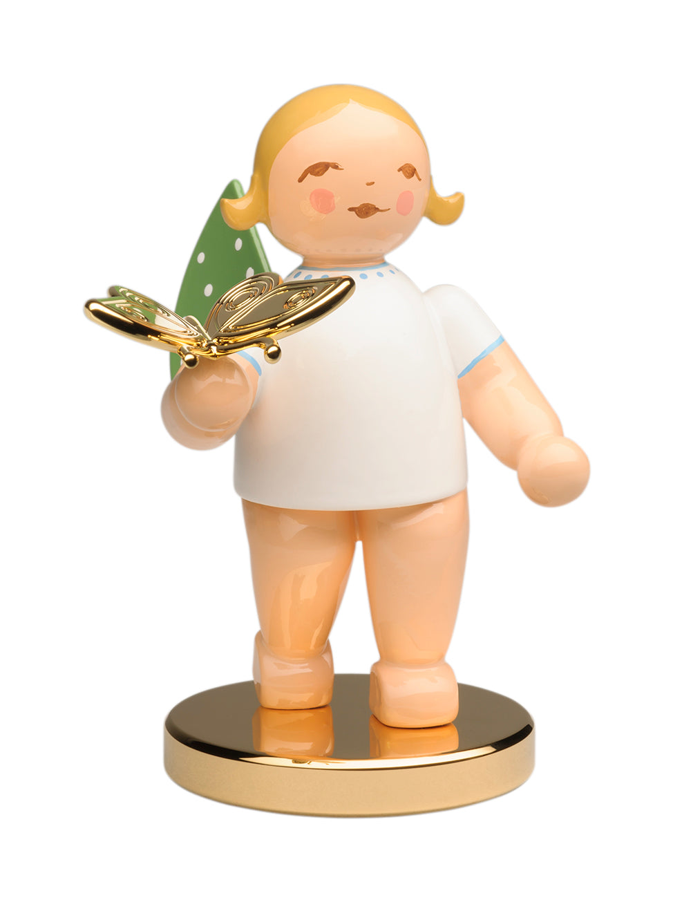 Limited Gold Edition No. 13 - Grunhainichen Angel / The Dreamer / Butterfly / in Splinter Box on a Gold-Plated Base / New 2020