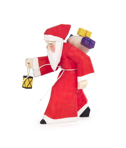 Santa / Saint Nicholas Carrying a Lantern / 3-1/4""