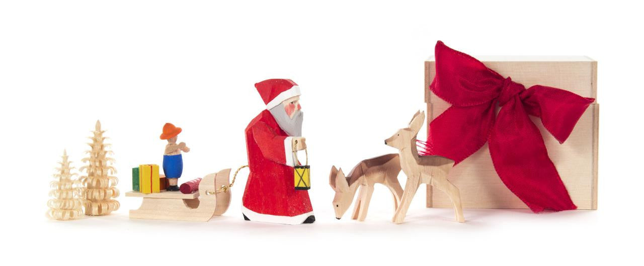 Santa and Sled Gift Box