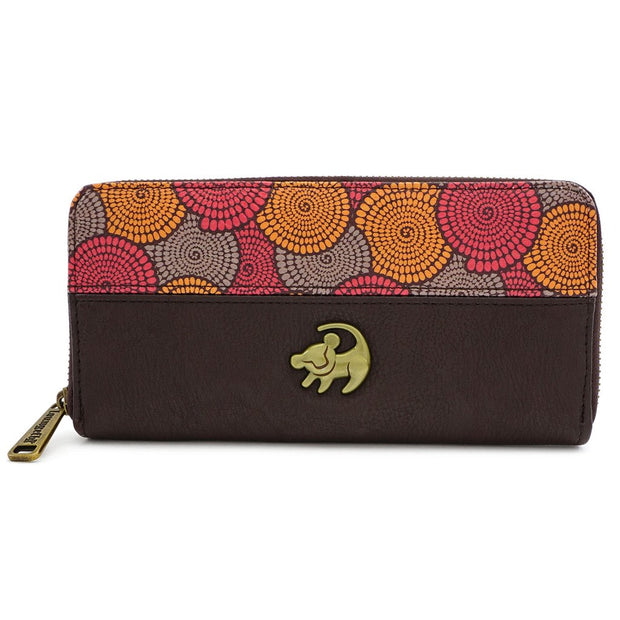 LOUNGEFLY - DISNEY LION KING AFRICAN FLORAL PRINT ZIP WALLET