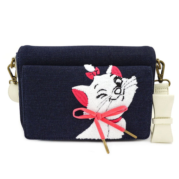 LOUNGEFLY - DISNEY MARIE DENIM CROSSBODY
