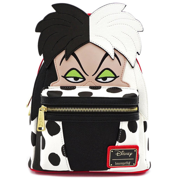 LOUNGEFLY - DISNEY CRUELLA DE VIL COSPLAY MINI-BACKPACK